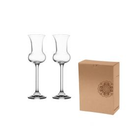 VS HAMEDAM 2 Set of two elegant 85 ml volume glasses for grappa or other aperitif