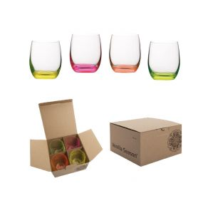 VS HATTA set of 4 neon glasses